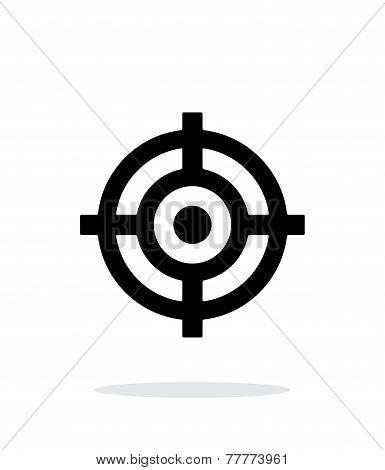 Crosshair icon on white background.
