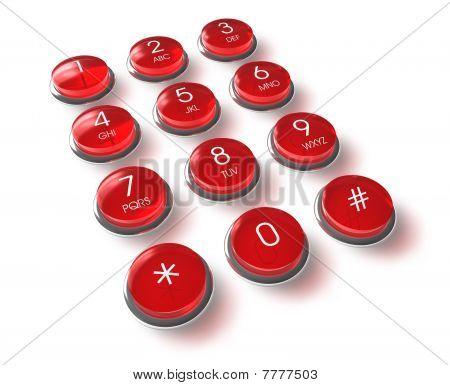 Rote Telefon-Tastatur
