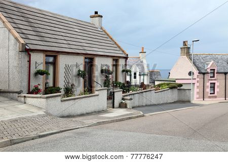 a street in the fishing village  in scotland