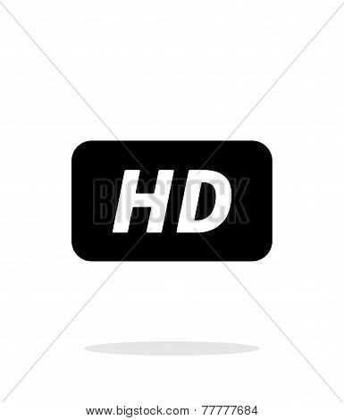 High definition icon on white background.