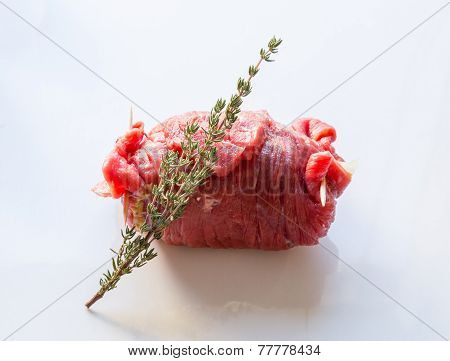 Beef Roulades Are Prepared And Cooked