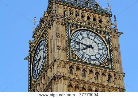 Westminster clock tower Big Ben