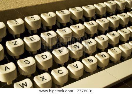 typewriter's keyboard