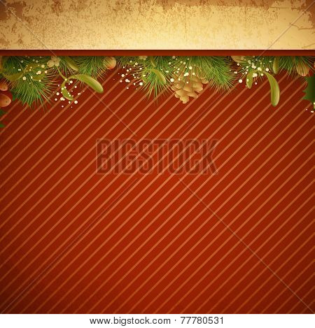 Christmas And New Year Vintage Background