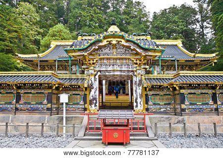 Rinno-ji Buddhist temple , Tayiu-in - mausoleum of Tokugawa Iemitsu, famous shogun in Nikko, Japan. This is UNESCO World Heritage Site.