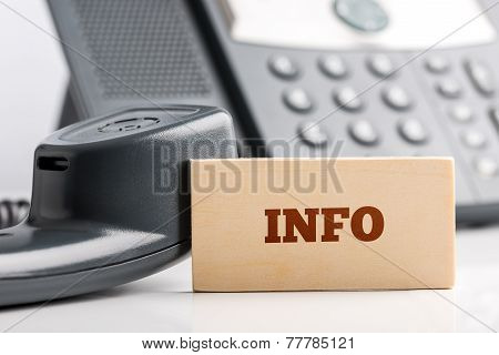 Information Concept With A Small Wooden Sign Saying Info