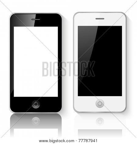 Mobile Smartphones Vector Illustration