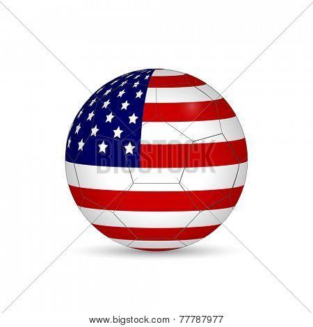 USA Soccer Ball Vector Illustration