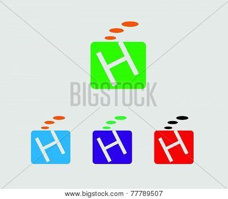 H letter logo - Symbol letter H