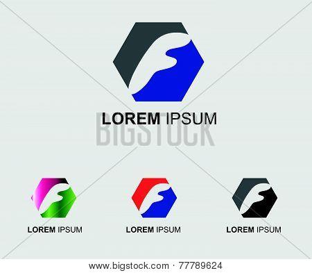 Letter F alphabet logo vector letter F icon