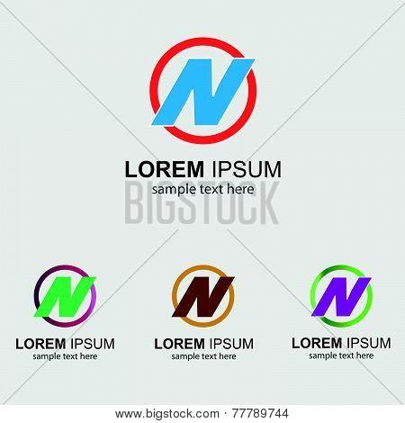 Letter N logo design template letter N icon
