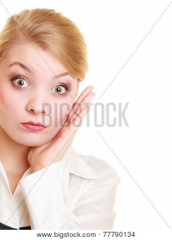 Surprised Shocked Businesswoman Woman Girl
