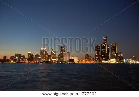 City skyline nightview