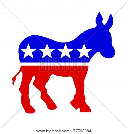 Red White And Blue Democrat Donkey