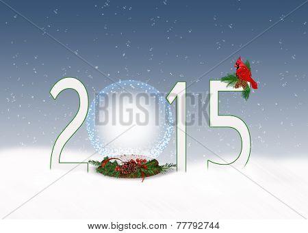 Christmas  2015 snow globe