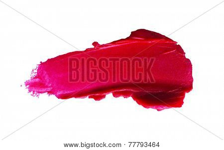 Beautiful lipstick isolated on white