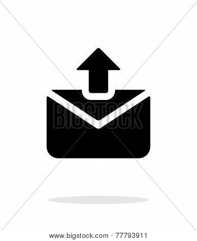 Sending mail icon on white background.