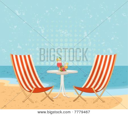 Beautiful summer beach