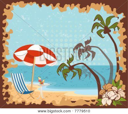 Beautiful summer beach