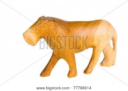Hayward, CA - November 27, 2014: Crude animal figurine of a  by an unknown African artist