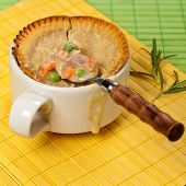 pic of biscuits gravy  - Turkey pot pie with carrot - JPG