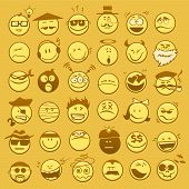 picture of emoticons  - Vector set of different emoticons for your design - JPG