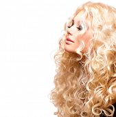 stock photo of blonde  - Glamour Blonde lady - JPG