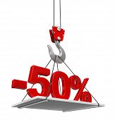 picture of crane hook  - Percent On Crane Hook - JPG