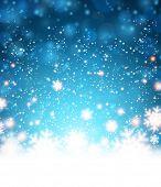 picture of fallen  - Winter blue background - JPG