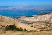 image of golan-heights  - The northern part of the Sea of Galilee in Israel as seen from the Golan Heights - JPG