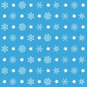 foto of x-files  - Christmas white snowflakes on the blue background - JPG
