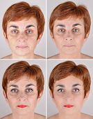 pic of step-up  - A set of  four portraits of the same woman - JPG