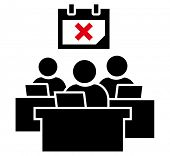 stock photo of fail job  - Failed deadline term icon - JPG