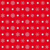 pic of x-files  - Christmas white snowflakes on the red background - JPG