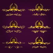 image of medal  - Set of luxury gold borders - JPG