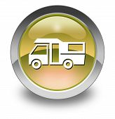 picture of motorhome  - Image Graphic Icon Button Pictogram with Motorhome symbol - JPG