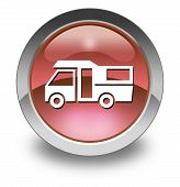 foto of motorhome  - Image Graphic Icon Button Pictogram with Motorhome symbol - JPG