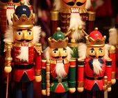 picture of nutcrackers  -  nutcracker statues standing in a row - JPG