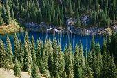 image of shan  - Kaindy Lake in Tien Shan mountain Kazakhstan - JPG