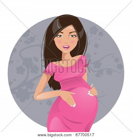 Pregnant Woman. Vector Illustration