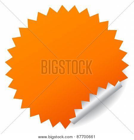 Blank vector sticker
