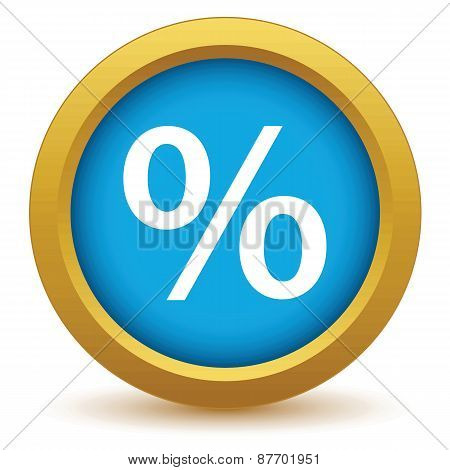 Gold percentage icon