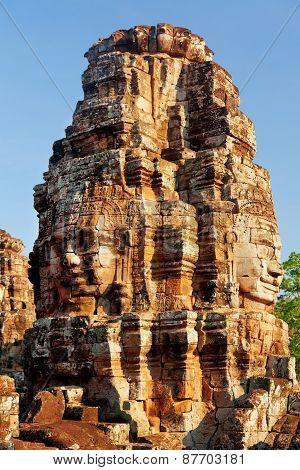 Bayon Temple In Angkor Wat, Cambodia
