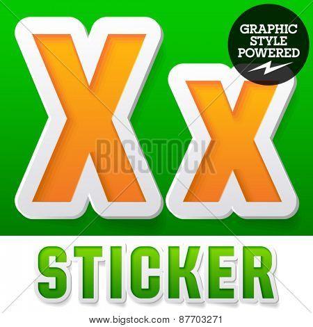 New fresh spring font. Letter X