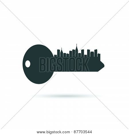 Key City Silhouette