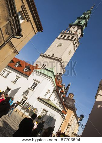 Czestochowa, Poland 12 April 2015: Jasna Gora Is The Most Famous Shrine To The Virgin Mary. Czestoch