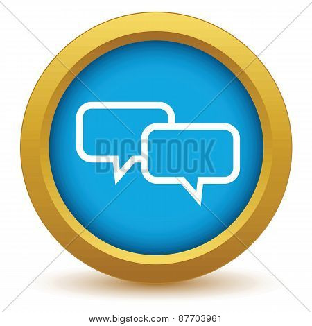 Gold conversation icon