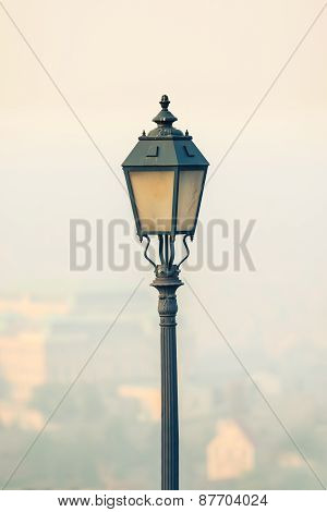 Ornate lamp closup photo