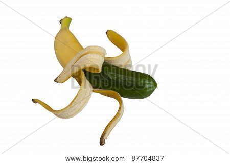 Funny Hybrid Banana And Cucumber