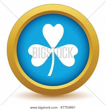 Gold shamrock icon